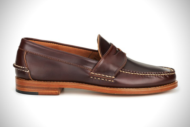 f2a729bf6f2 Rancourt Co Shell Cordovan Pinch Penny Loafer