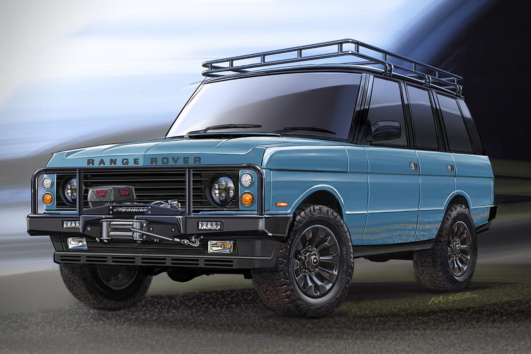 custom range rover classic by ecd hiconsumption. Black Bedroom Furniture Sets. Home Design Ideas