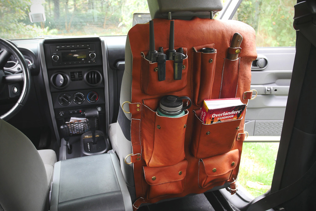 Ketzal Leather Seat Organizer