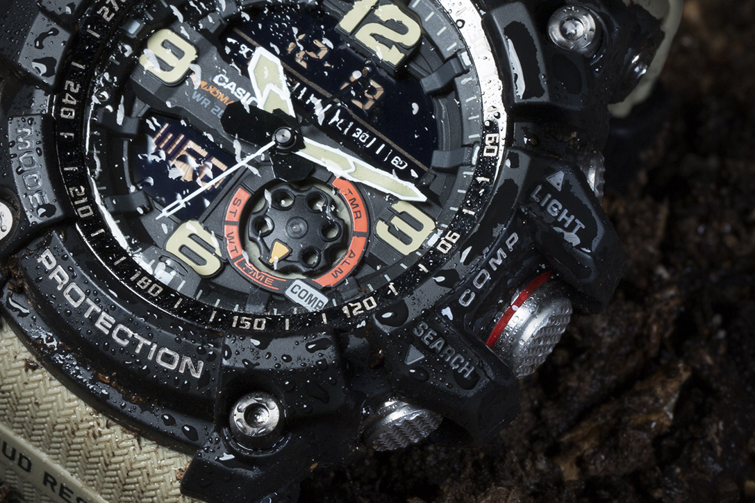 Hands On G Shock Mudmaster Gg1000 1a5 Review Casio Gg 1000 1a Moving To The Bezel Its Marked With 360 Degree Hashes That Help Interpret Compass Readings A Handy Feature Included In Watchs Twin Sensors