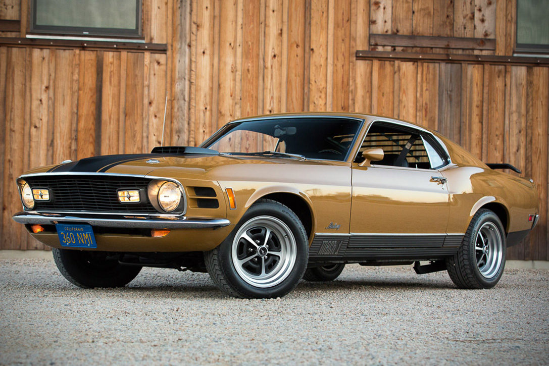 Auction block 1970 ford mustang mach 1