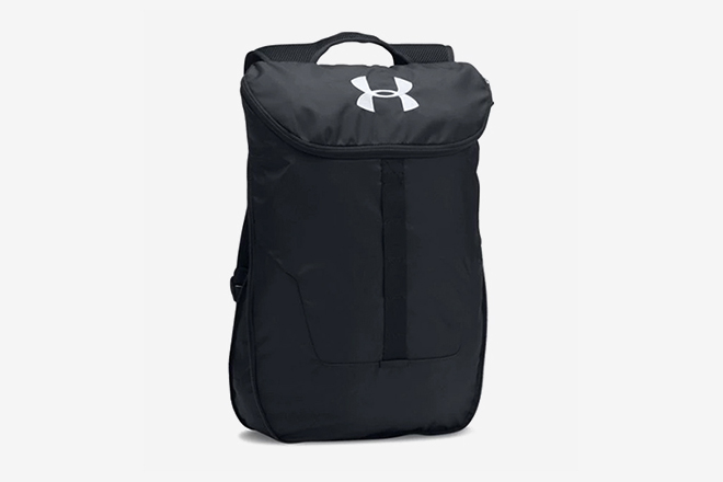 b43e210f10d5 Under Armour Expandable Sackpack. Under Armour s Polyester running backpack  ...