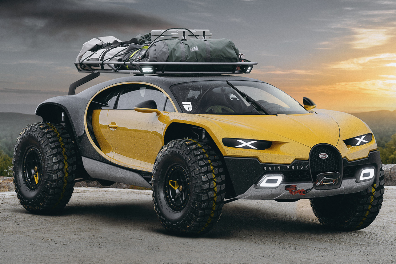 Off Road Roof Rack >> Bugatti Chiron Off-Road Edition | HiConsumption