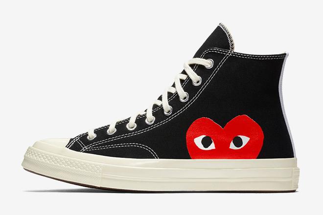 0be1e123710c Converse Chuck Taylor Comme Des Garçons. Chuck Taylor shoes are high top ...