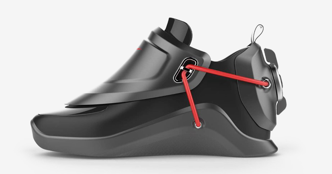 Back To The Future Nike Power Lace Shoes