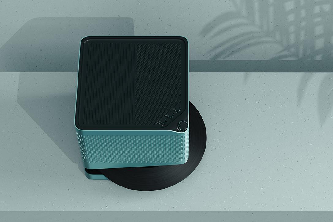 Point Line Vinyl Record Speaker Hiconsumption