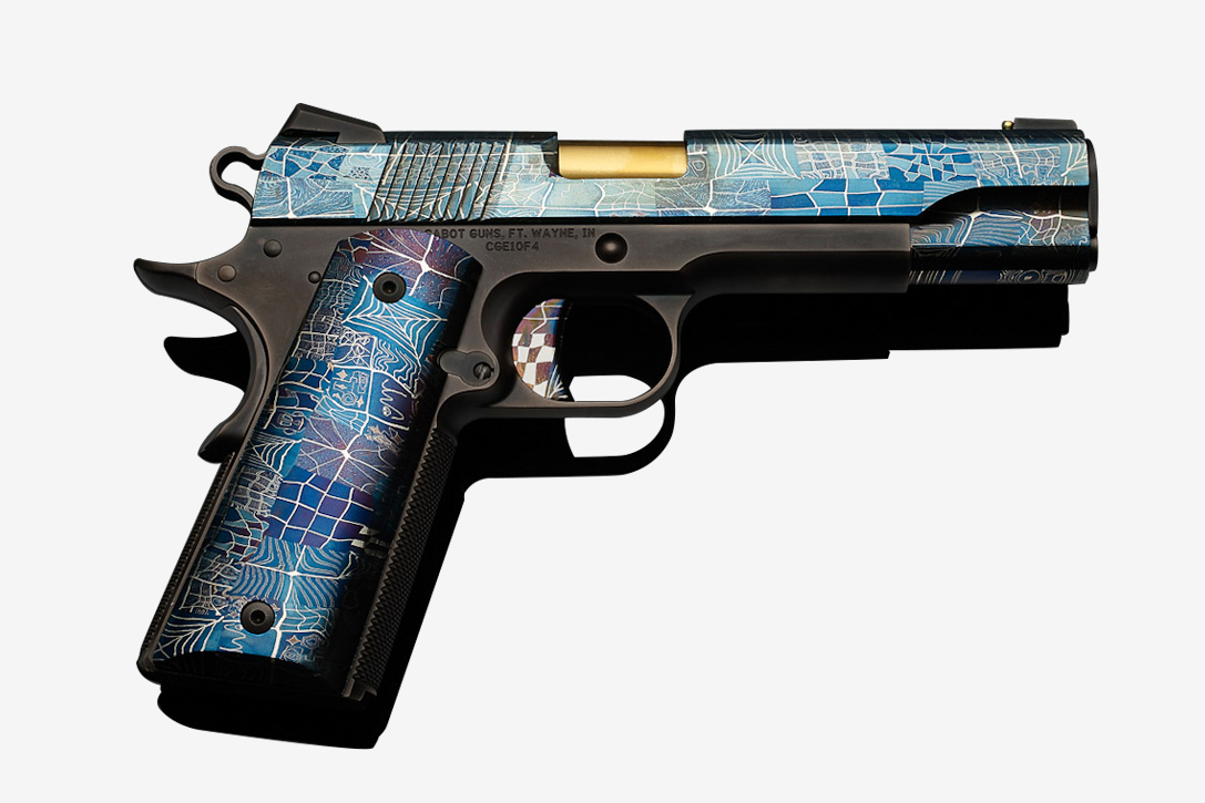Cabot Mosaic Damascus 1911 Pistol