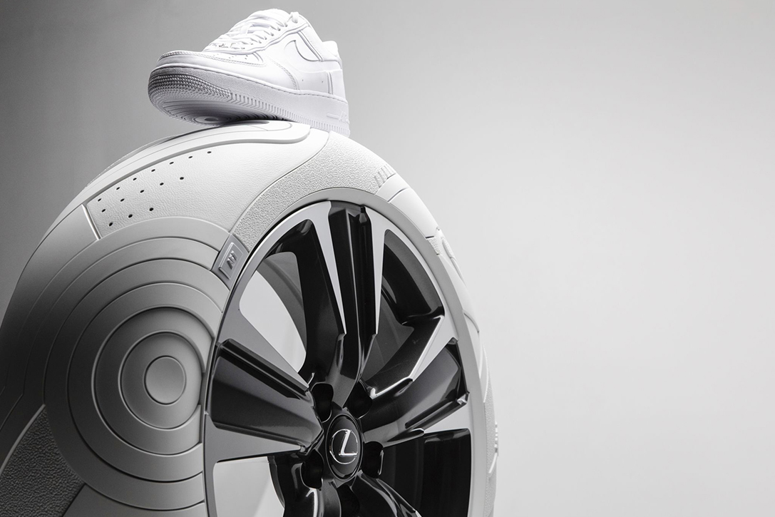 Lexux and John Elliott turned a Nike shoe into tires | Autoblog