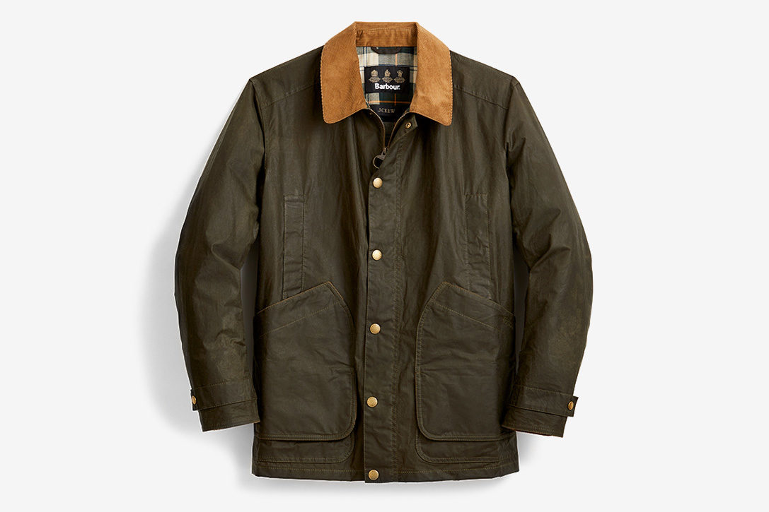 J. Crew x Barbour Waxed Cotton Barn Jacket | HiConsumption