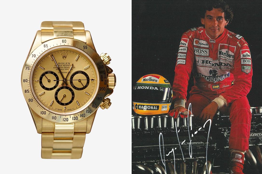 Ayrton Senna's 18K Gold Rolex Daytona Watch
