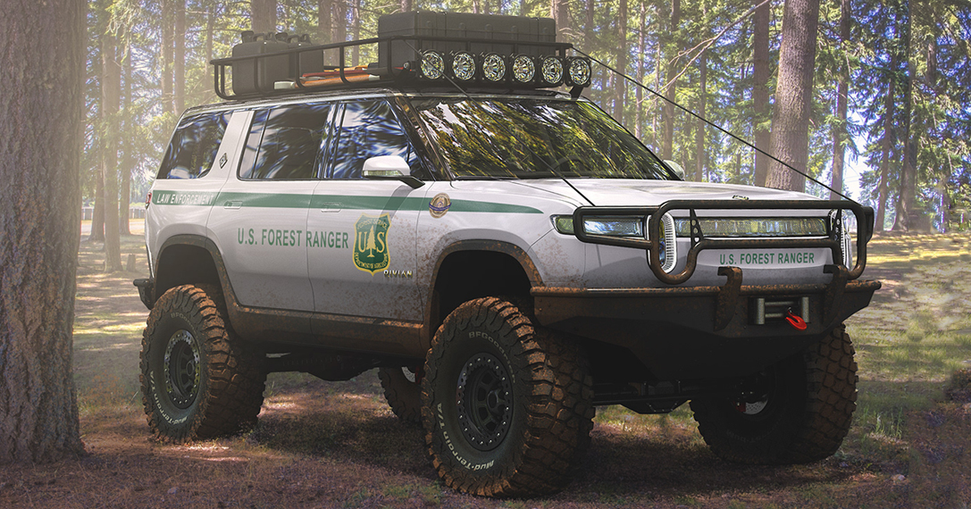 How Much Is A Lift Kit >> Rivian R1S U.S. Forest Ranger Edition Electric SUV ...