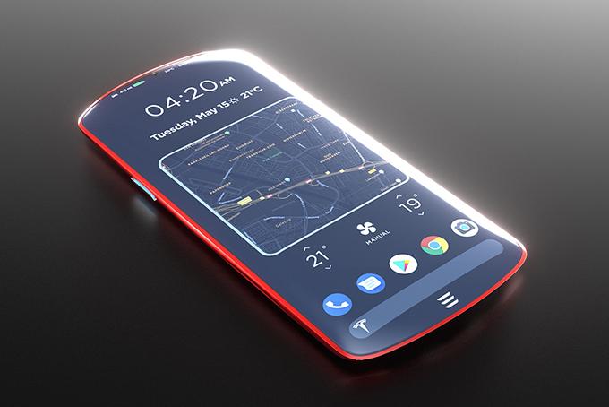 Tesla Model P Phone Concept Hiconsumption
