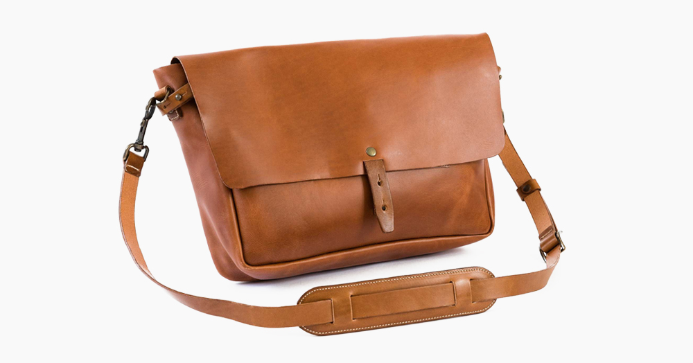 The Vintage Leather Messenger Bag Is Inspired By Classic Postal Carriers