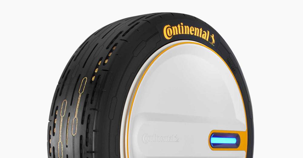 Continental's 'Conti C.A.R.E' Smart Car Tire Self Inflates On-The-Go