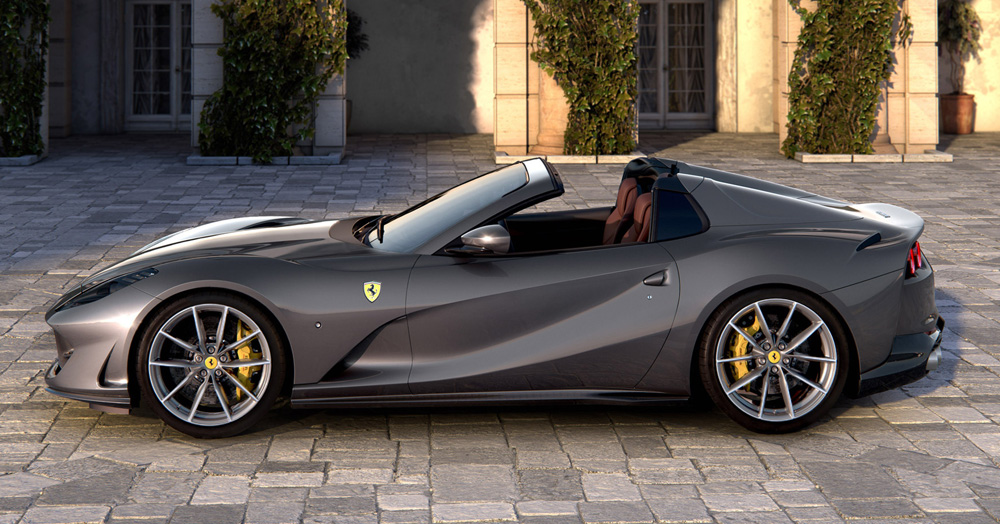 Ferrari Embraces Open-Air Driving With The 789HP 812 GTS Supercar