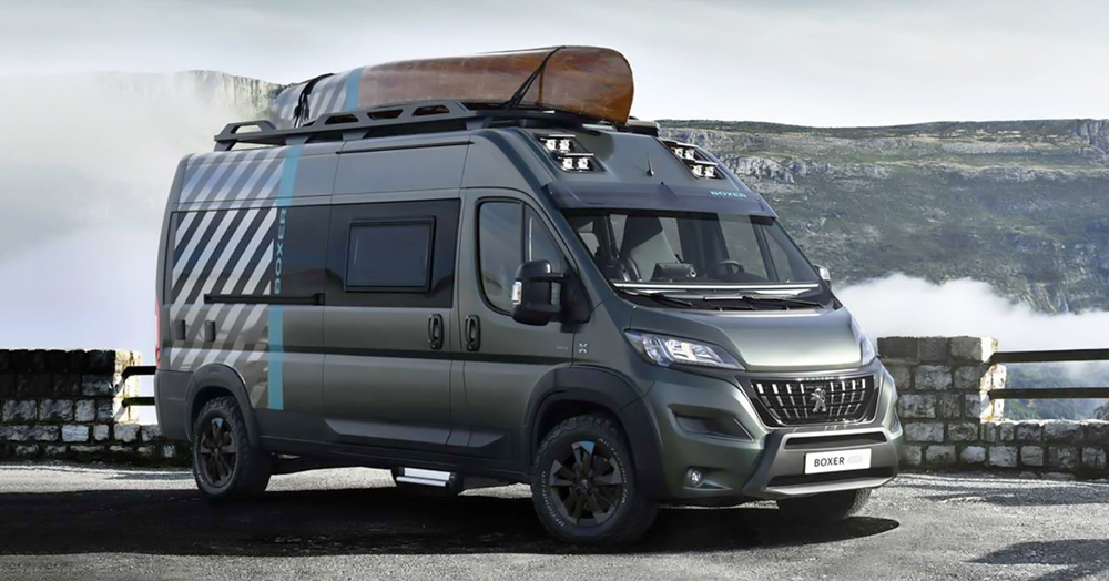 Peugeot's Off-Road Boxer 4×4 Concept Is A Fully-Loaded Adventure Van