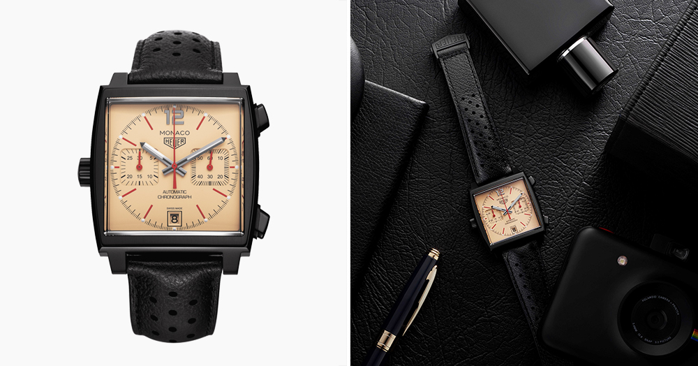 This Black & Tan TAG Heuer Watch Celebrates 50 Years Of The Monaco