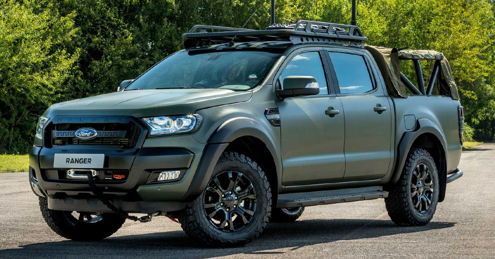 This Militarized, Armored Ford Ranger Takes Off-Roading To A New Level