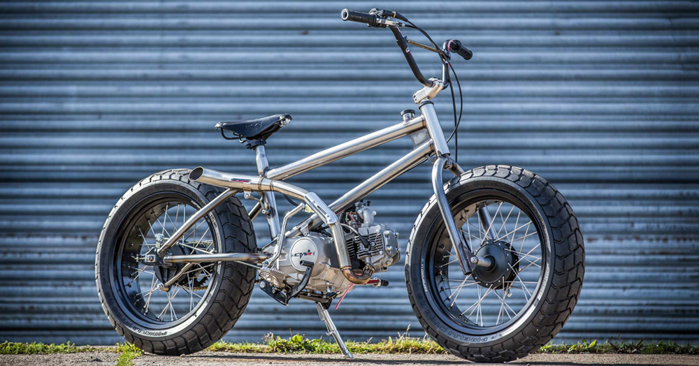 This 140cc Motorized BMX 'Fat Tracker' Bike Can Go Up To 60MPH