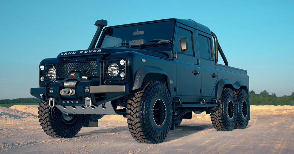 This Massive All-Black 430HP 6×6 Land Rover Defender V8 Could Be Yours