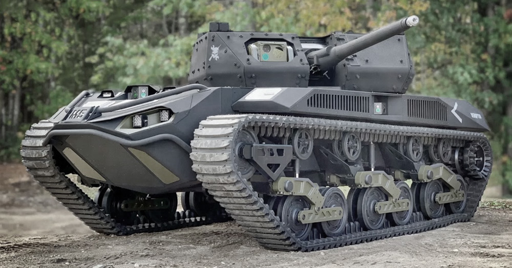 The Ripsaw M5 Is An Unmanned High-Speed Tank That Deploys Drones