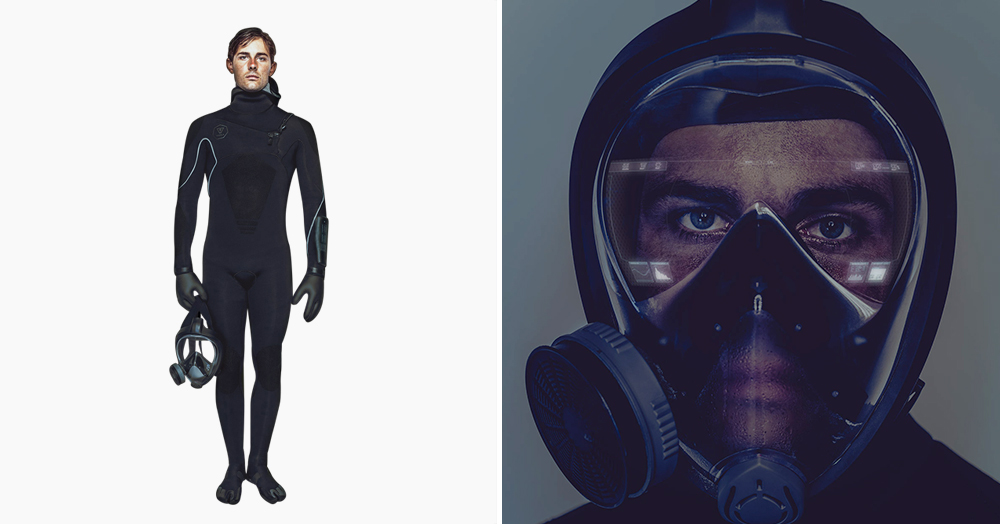 This Cutting-Edge Wetsuit Has A Bio-Defense System, HUD, & Nanosensors