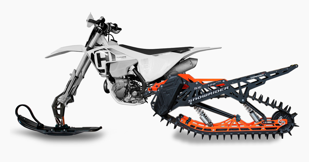 Snowrider's New Kit Will Turn Your Dirt Bike Into A Winter-Ready Snowmobile