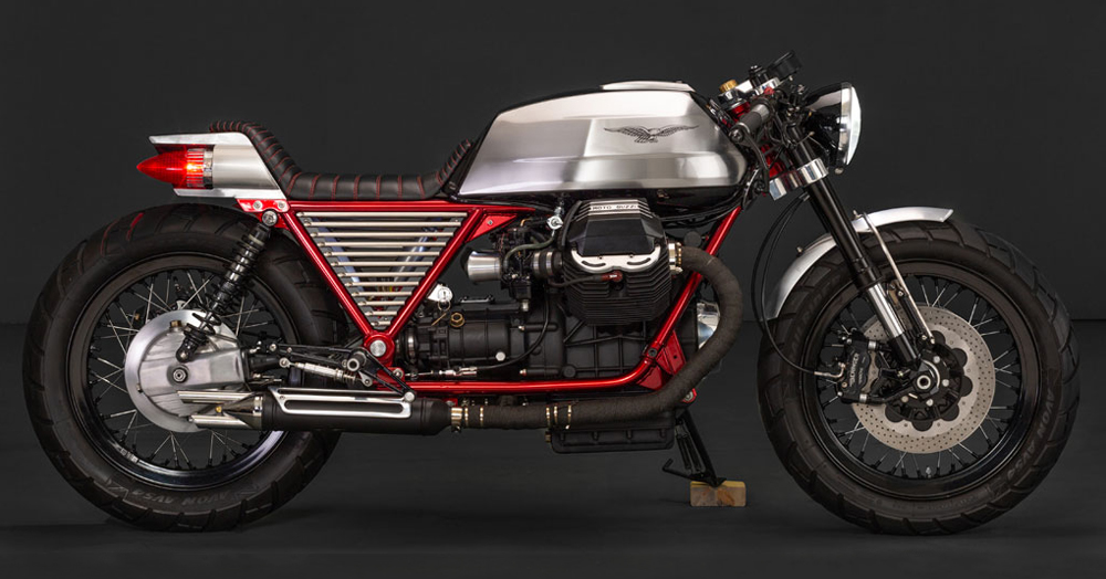 This Custom Moto Guzzi Bike Is Loaded With Nods To The 1959 Cadillac