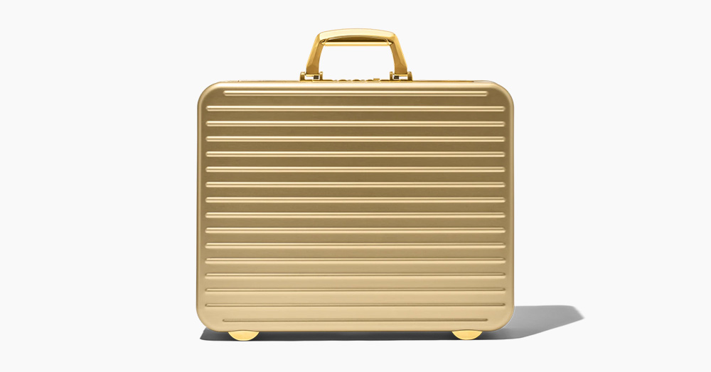 Rimowa's Legendary Attaché Gets A Gold-Anodized Limited Edition