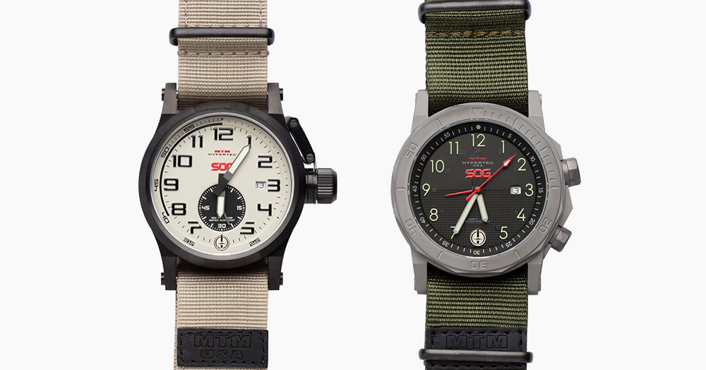 SOG & MTM Join Forces On A Military-Inspired 4-Watch Collection