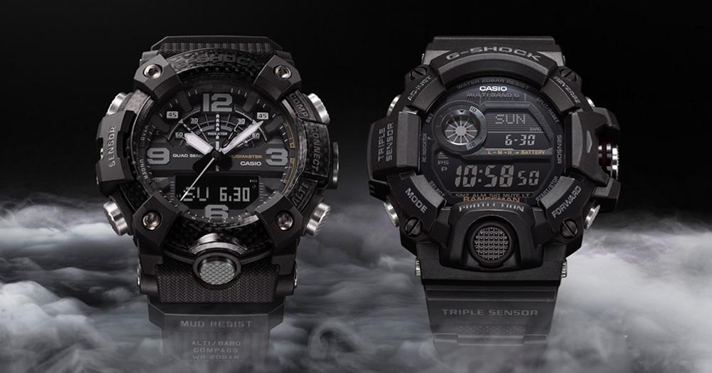G-SHOCK Unveils Blacked-Out Versions Of The Mudmaster & Rangeman Watches