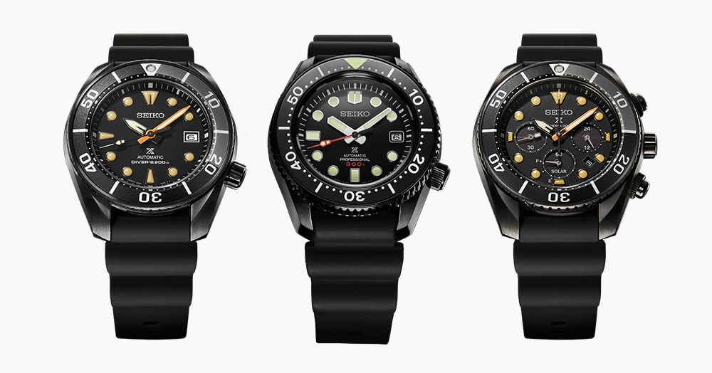 3 Auto & Solar Seiko Dive Watches Get The Blacked-Out Treatment
