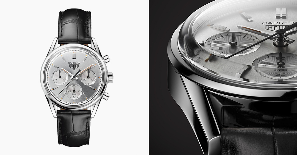 This Sleek Silver Carrera Chronograph Honors TAG Heuer's 160th Anniversary