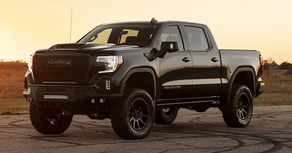 This Badass Blacked-Out Off-Road GMC Sierra Gets Boosted To 700HP By Hennessey