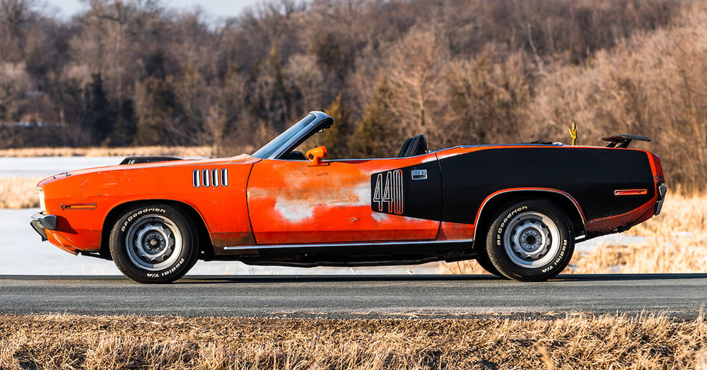 This Ultra-Rare '71 Plymouth Cuda V-Code 440-6 Convertible Could Be Yours