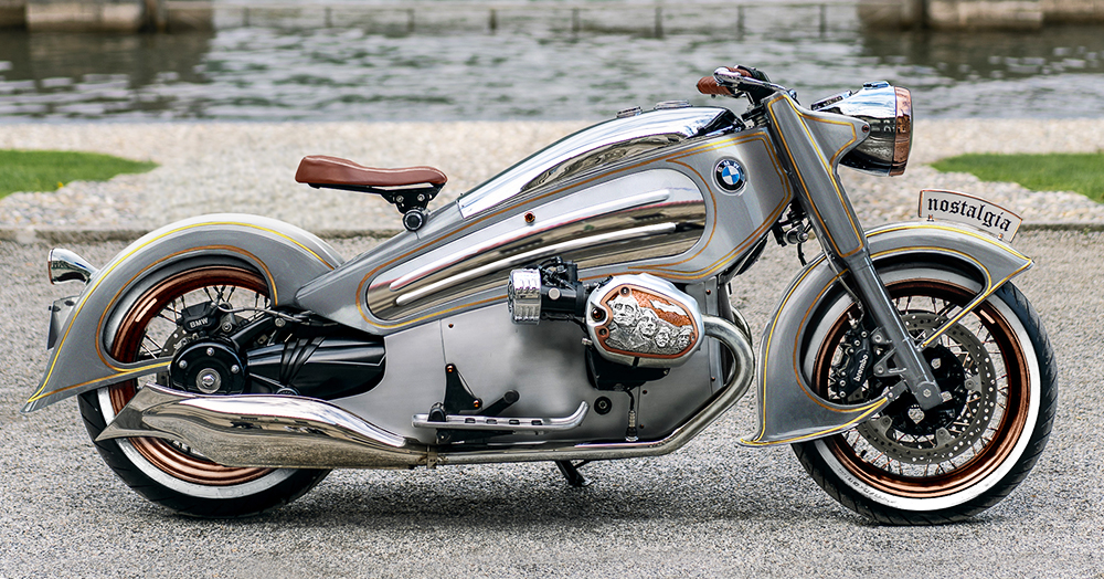 NMoto's Art-Deco Bike Gets Upgraded With Platinum, Gold, & Louis Vuitton Leather