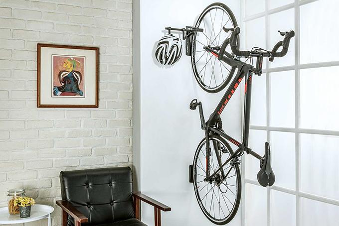 Black Sleek Durable Home Storage Assemble Bike Tree Holder Double Wall Mount