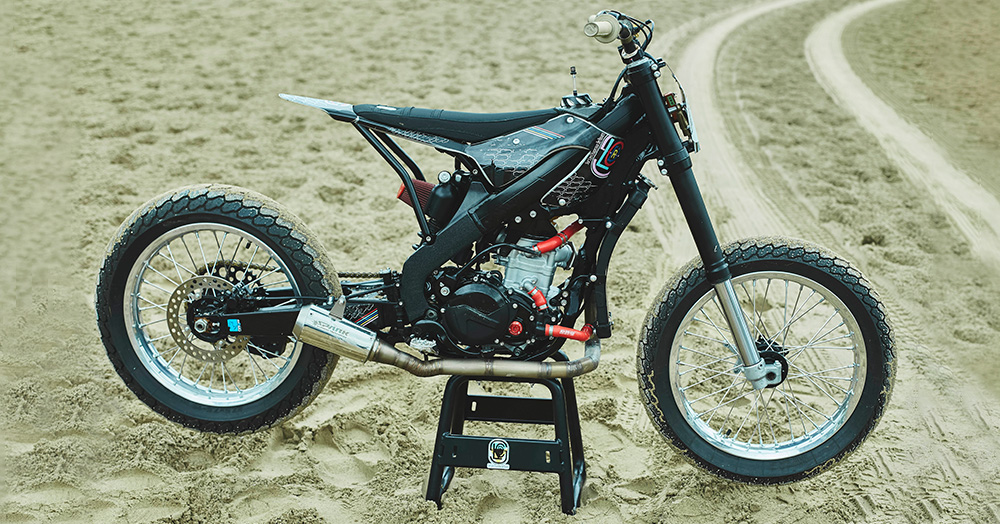 This 450cc Honda Flat Tracker Is The Epitome Of A Stripped-Back Race Bike