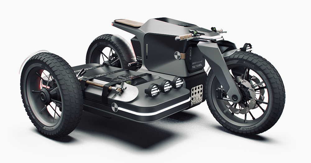 This Ebike Concept Combines ESMC's Desert Wolves & BMW's Vision DC Roadster