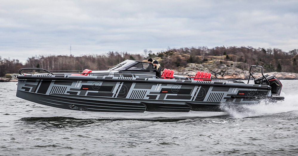 BRABUS Marine Introduces An Ultra-Luxury 900HP, 75MPH Tender Boat