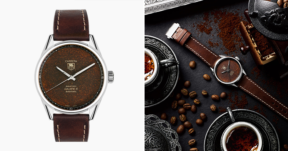 Bamford Joins Forces With Black Badger For A Coffee-Clad Tag Heuer Wristwatch