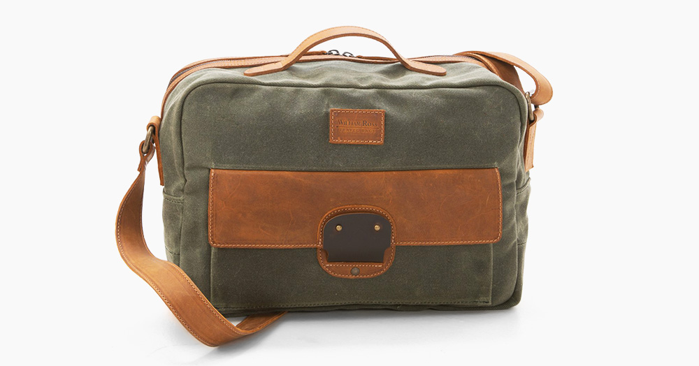 This Weatherproof Travel Bag Is Crafted From Heritage-Level Fabrics