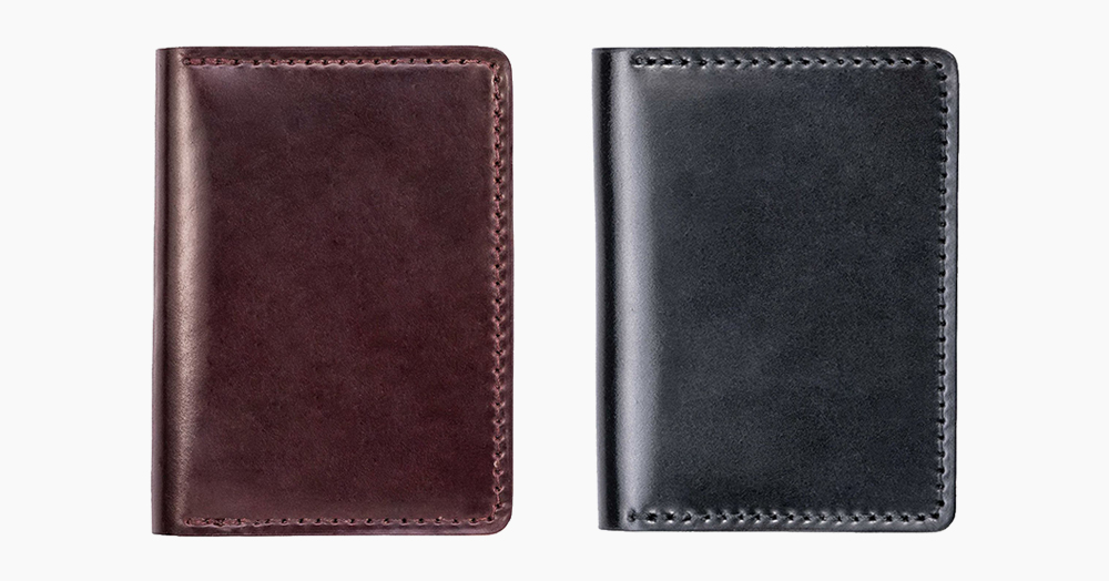 This LE Horweeen Shell Cordovan Leather Wallet Takes On A Unique Patina Over Time