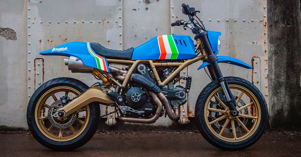 This Custom '80s MX-Inspired Ducati Motorcycle Was Built By A Tattoo Legend