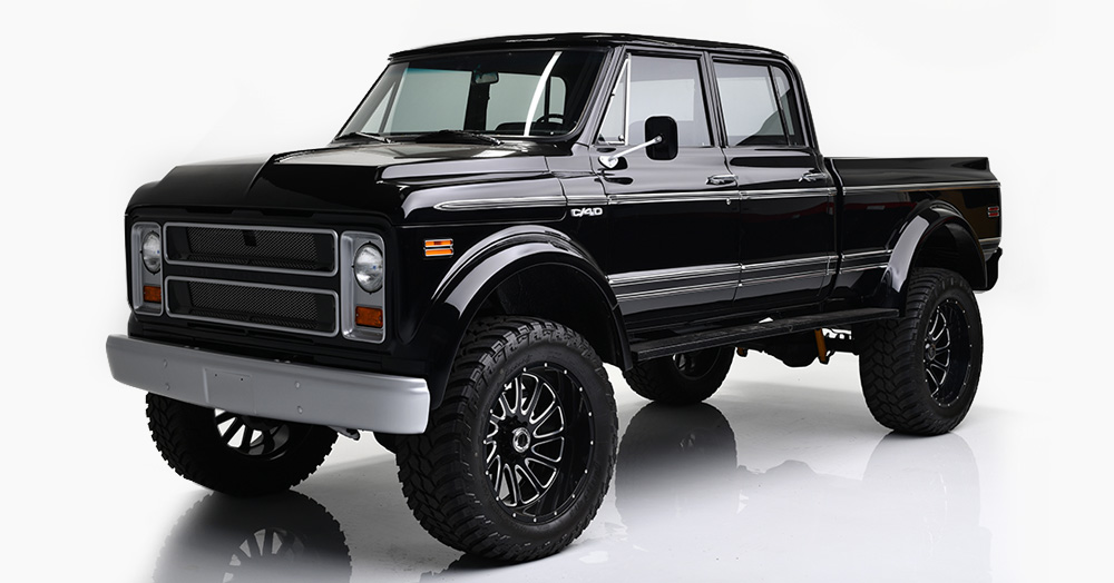 This 1969 Chevy C40 Custom Is A Blacked-Out Beast Of An Off-Roader