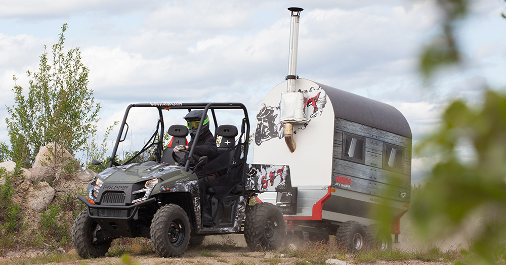 Bring The Steam To The Singletrack With Harvia's Towable ATV Sauna