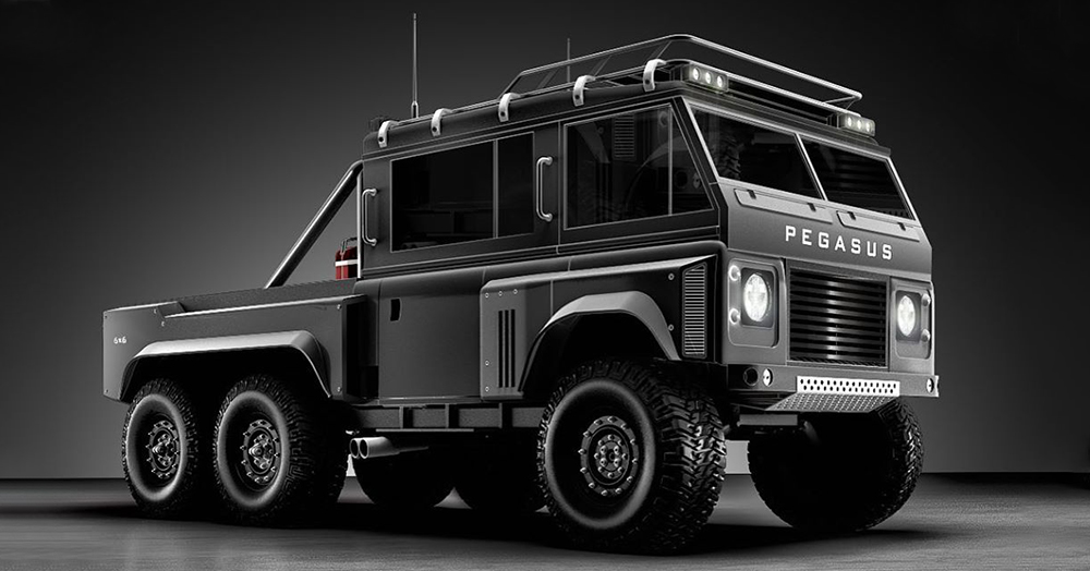 An Industrial Designer Imagines The Series III Defender As A Massive 6x6 Overland Rig