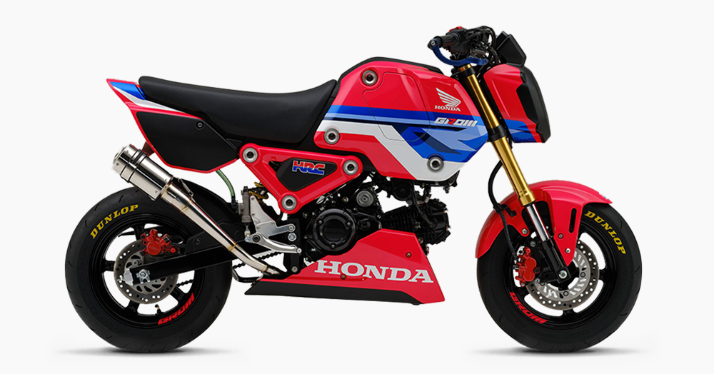 The Honda Racing Corporation Unleashes A Track-Only, Pro-Grade Grom Racing Moto
