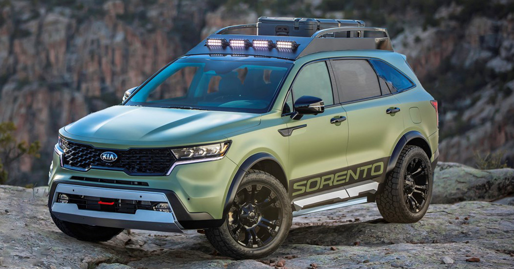 These Off-Road Ready Kia Sorento X-Line Concepts Were Named After A Pair Of National Parks