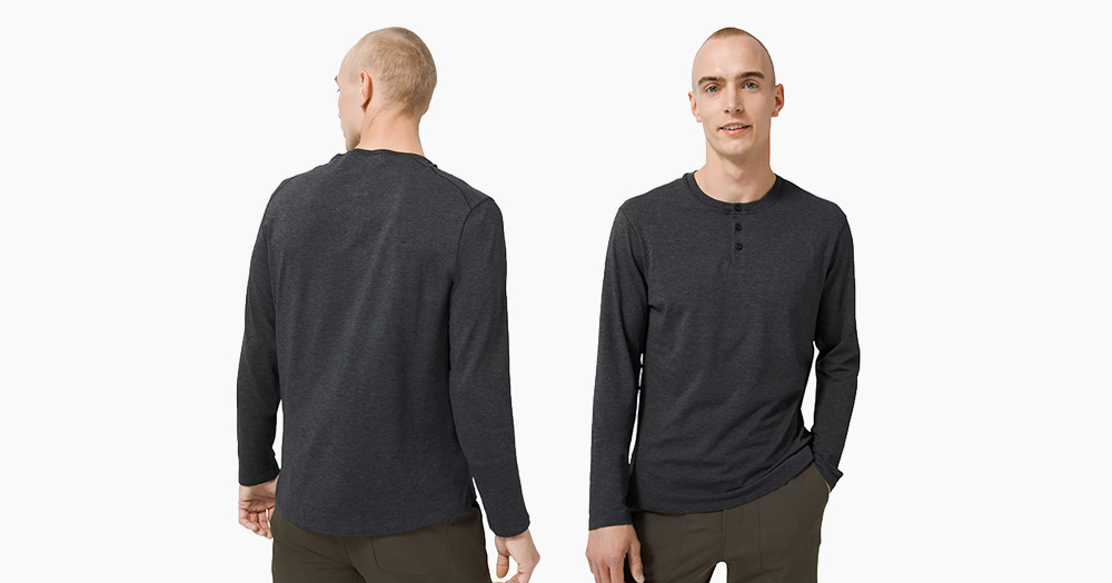lululemon's 5 Year Basic Henley Is A Staple Element Of Any Menswear Wardrobe